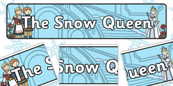 The Snow Queen Display Banner - banners, displays, traditional