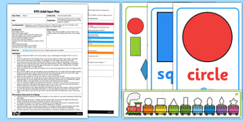 EYFS Pass the Shape Game Adult Input Plan and Resource Pack - EYFS, Early Years planning, adult led, Maths, shape, space and measure, 2D shapes
