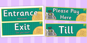 Pound Shop Display Signs - pound shop, role-play, display signs