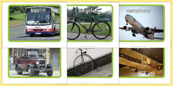 Old and New Transport Display Photos - Display Posters, Transport, A4, display, posters, car, van, lorry, bike, motorbike, plane, aeroplane, tractor, truck, bus