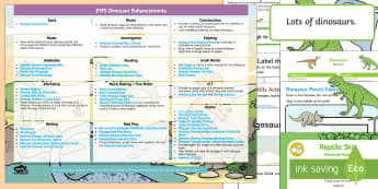 EYFS Dinosaurs Enhancement Ideas and Resources Pack - Early Years, continuous provision, early years planning, adult led
