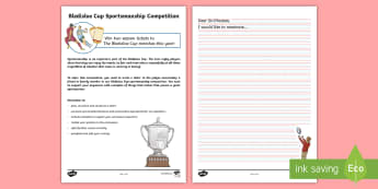 Bledisloe Cup Exposition Writing Activity Sheet - bledisloe cup, rugby, sport, writing, exposition, writing task, wallabies, all blacks,Australia
