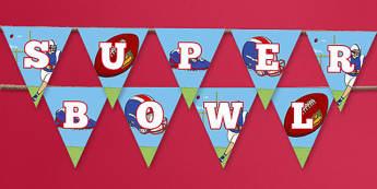 Super Bowl Bunting - usa, super bowl, bunting, display bunting, display