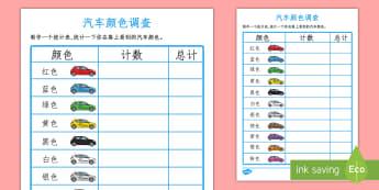 汽车颜色调查 - 汽车颜色调查,交通,汽车颜色