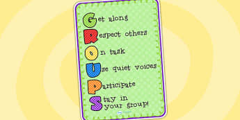 Group Rules Poster - group rules, rules, display poster, poster, poster for display, classroom rules, classroom display, rules poster, display rules