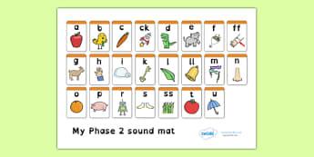Phase 2 Sound Mat Dyslexia - sound mat, dyslexia sound mat, dyslexia font sound mat, phase 2 sound mat, letters and sounds, sound image mat, sen phonics