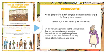 Stig of the Dump Story Writing Activity PowerPoint - Stig, Dump