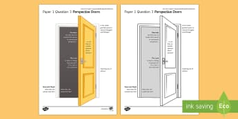 AQA Eng Lang P1 Q3 Perspective Doors Activity Sheet - AQA GCSE Specific Question Resources, structure, language, perspective, narration