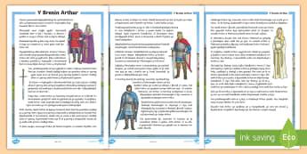 Stori Brenin Arthur - Arthur, King, story, brenin, stori, hanes, chwedl, Myrddin,Welsh