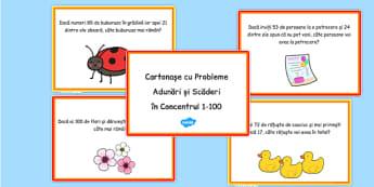 Adunări și scăderi în concentrul 0-100 - Probleme ilustrate