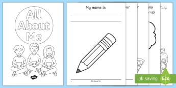 All About Me Activity Booklet - USA, Back to School, Beginning of School, First Day of School