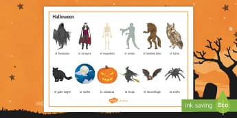 Halloween Word Mat  - 31st, October, Festivities, Celebrations, Vocabulary