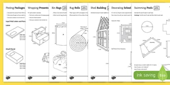 Shape at Home: Surface Area and Volume GCSE Grades 4 to 5 Activity Sheet - shape at home, surface area, volume, gcse, activity, grades, worksheet