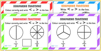 Comparing Fractions Challenge Cards - fraction, numeracy, maths