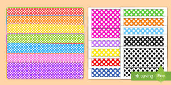 Editable Polka Dot Banners and Borders Display Pack - banner, border, displays, classroom display, boards,