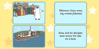 The Loaves and Fishes Picture and Sentence Matching Activity