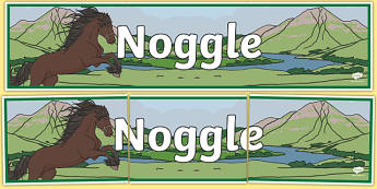Noggle Scottish Legend Display Banner