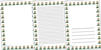 Mary Anning Page Borders - mary anning,  page borders, writing frames, lined pages, writing guide, writing template, themed writing frame, writing aid