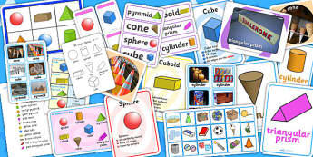 3D Shape Resource Pack - 3D, 3D shapes, shapes, numeracy, maths