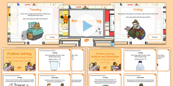 Week 18 - Problem Solving - One a day - Resource Pack - Word Problems, Addition, Subtraction, Challenge, Solving, RUDE, Irish