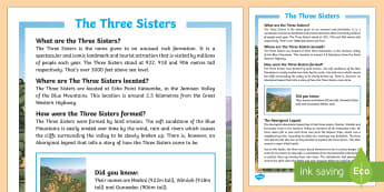 The Three Sisters Fact File-Australia - Sydney Australia,Australia
