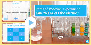 Rates of Reaction Quick Quiz  - dynamic equilibrium, precipitate, rate of reaction, exothermic, endothermic