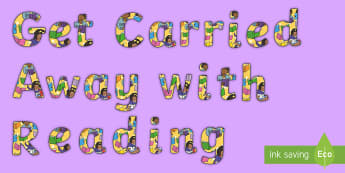 Get Carried Away with Reading Display Lettering - Get Carried Away with Reading Display Lettering - display lettering, letering, displaylettering, dis