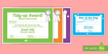 School Role Play Certificates Afrikaans Translation - School Role Play Certificates - School Role Play Pack, school role play, register, teacher, stickers