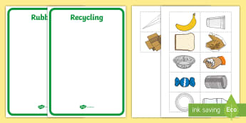 Rubbish or Recycling? Activity - tidy kiwi, New Zealand, rubbish, recycling, Years 1-6, activity