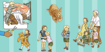 Story Cut Outs to Support Teaching on Dogger - visuals, displays, display, cutting