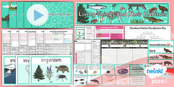 Science: Living Things and Their Habitats Year 4 Unit Pack