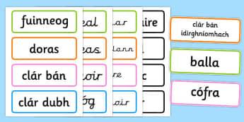 Classroom Signs - classroom signs, classroom, signs, gaeilge, republic of ireland