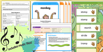 Foundation PE (Reception) - Dance - Dinosaurs Lesson Pack 4: Dinosaur Developed Dances - EYFS, PE, Physical Development, Planning
