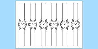Design Your Own Watch Activity - time, clocks, design, art, watch, Time, watch, design, numeracy, measurement, time