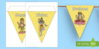 Hindu Gods Display Bunting