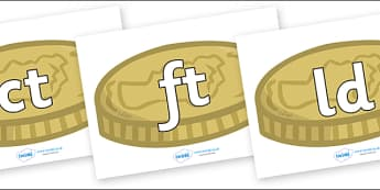 Final Letter Blends on Coins - Final Letters, final letter, letter blend, letter blends, consonant, consonants, digraph, trigraph, literacy, alphabet, letters, foundation stage literacy