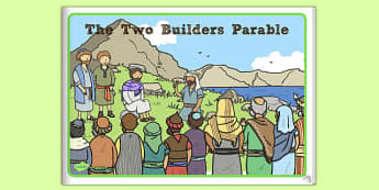 The Two Builders Parable eBook - parables, two builders, story