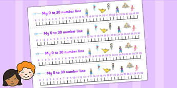 Aladdin Number Lines 0 30 - aladdin, numberline, 0-30, visual aid