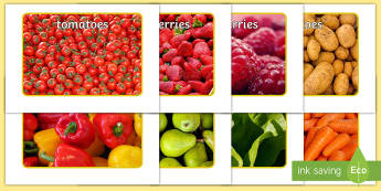 Fruit and Vegetable Display Posters - EYFS Parks and Gardens, Fruit, vegetables, eat, food, grown, grow, healthy, garden, allotments