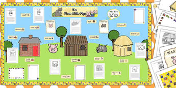 Ready Made Three Little Pigs Display Pack - ready made, display