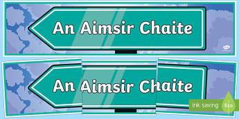 Meirge Tairpeána: An Aimsir Chaite - Gaeilge, an aimsir chaite, gramadach, briathar, taispeántas