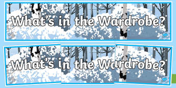 What's in the Wardrobe? Display Banner