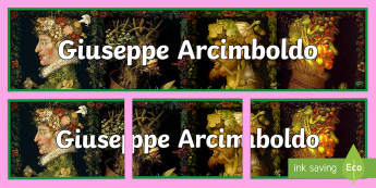 Arcimboldo Display Banner - art resources, display banner, Arcimboldo, artist,Irish