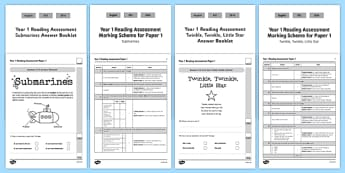 Year 1 Reading Assessment Term 3 Paper 1 - formative, summative, diagnostic, fiction, non-fiction, reading, ks1, year, 1, one, assess
