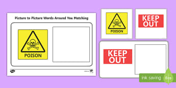 Workstation Pack: Picture to Picture Words Around You Matching 2 Activity