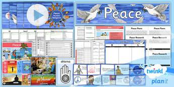 PlanIt - RE Year 5 - Peace Unit Pack - planit, re, religious education, peace, unit pack, unit, pack