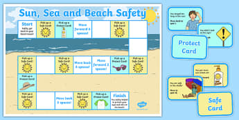 Sun, Sea and Beach Safety Board Game