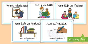Arwydd Ardal Ddarllen neu Lyfrau Arwyddion a Labeli - darllen, ardal darllen, cornel ddarllen, llyfrau, llythrennedd, llyfrgell, reading area, reading cor