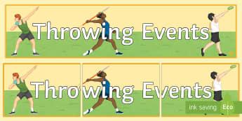 Athletics Throwing Banner - long jump, triple jump, high jump, olympics, jumping