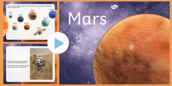 All About Mars PowerPoint - mars, space, planets, universe, science, astronauts, life, water, news